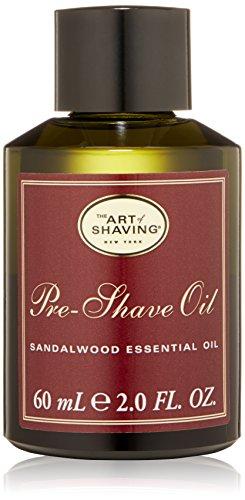 El arte de afeitar aceite para antes del afeitado, sándalo, 2 fl. oz.