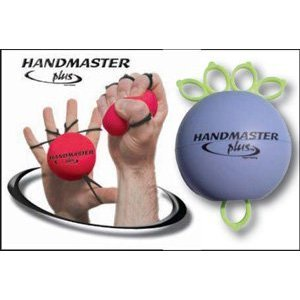 Ejercitador de mano Handmaster, conjunto de 3-1 naranja, 1 rojo, 1 púrpura