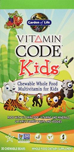 Jardín de vida vitamina código los niños, 30 masticables