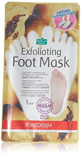 Purederm Exfoliating Foot Mask - cáscaras lejos callos y piel muerta en 2 semanas! (3 pack (3 tratamientos), Regular)
