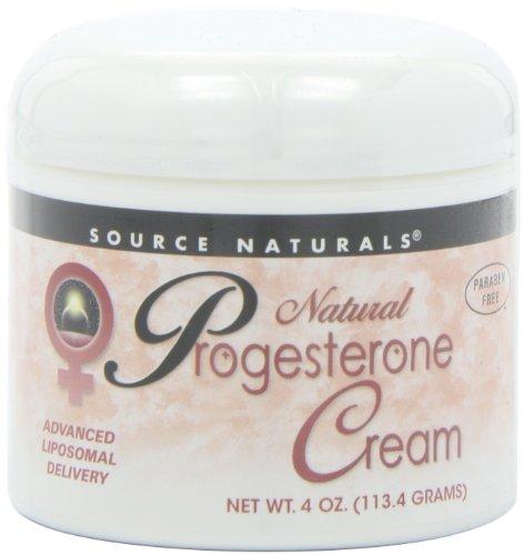 Source Naturals crema de progesterona Natural, 4 onzas (113.4 g)