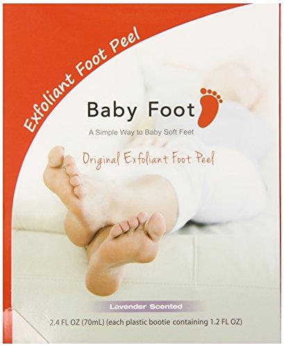 Bebé pie pies exfoliante cáscara aroma de lavanda 2.4 Fl OZ (70mL) - paquete de 2.