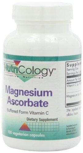 NutriCology magnesio ascorbato, Vegicaps, 100-cuenta