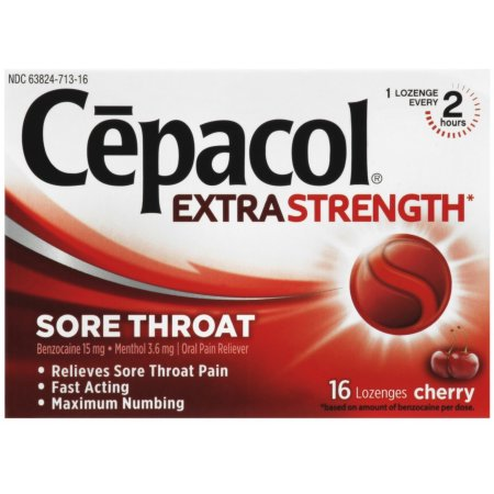 Cepacol Maximum Strength Garganta gota pastillas para chupar cereza 16 Conde