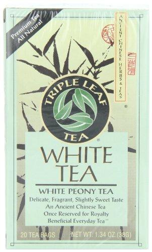 Triple hoja té, peonía blanca, 20 bolsitas de té (paquete de 6)