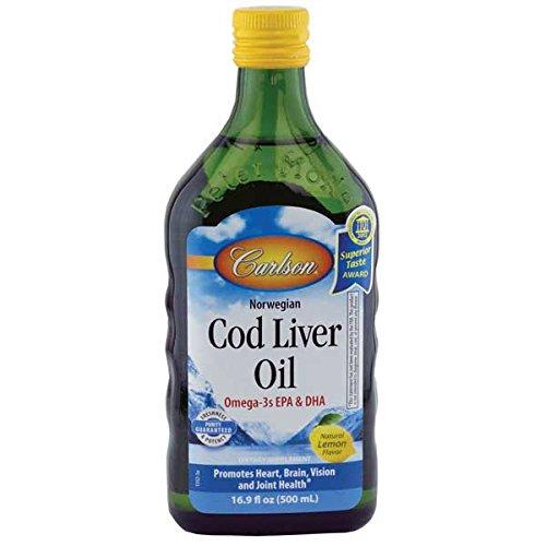 Bacalao noruego Carlson aceite de hígado, limón 500 ml