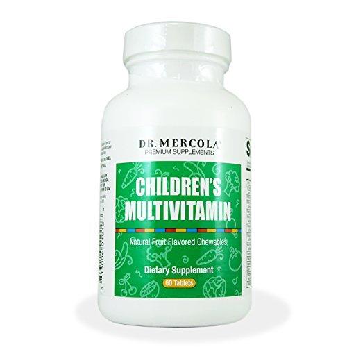 Multivitamínico para niños por Dr. Mercola fruta masticables con sabor a 60 tabletas