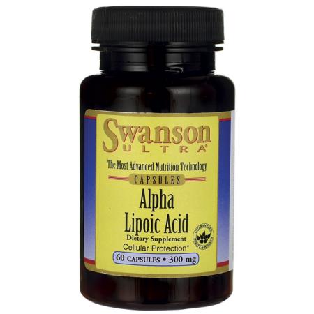 Swanson ácido alfa lipoico 300 mg 60 Caps