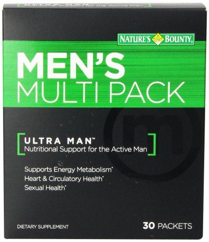 Suplemento Multi Pack de naturalezas recompensa los hombres, cuenta 30