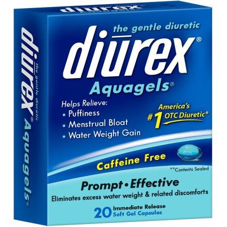 DIUREX El Gentle Diurético acuageles, 20 ea (Pack de 3)