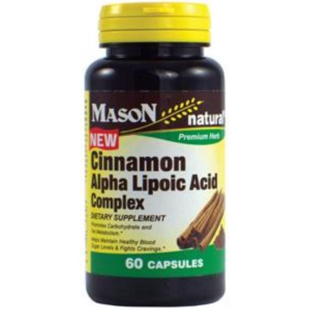 Paquete de 4 - Mason Natural ácido alfa lipoico Canela Complejo de 60 ea