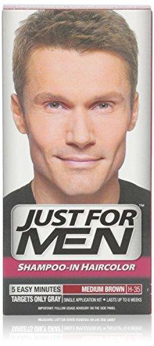 Solo para hombres champú en el pelo Color, marrón 35, 1 aplicación, (paquete de 6)