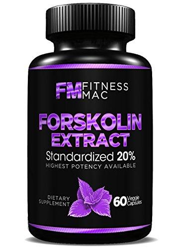 100% extracto puro de forskoline - suplemento para bajar de peso, promueve la lucha contra el envejecimiento, aumenta metabolismo - 60 píldoras de la dieta segura y eficaz