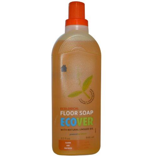 ECover - piso ecológico jabón con aceite de linaza Natural - 32 oz.