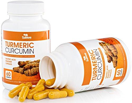 Cúrcuma curcumina cápsulas con Bioperine y sistema de entrega especial
