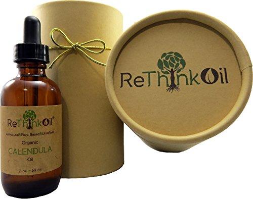 2 oz caléndula orgánica-infusión de aceite de Jojoba (botella de vidrio con gotero y el tubo de la ECO)