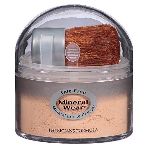 Los médicos Mineral fórmula usar polvo suelto libre de talco, Beige Natural, 0,49 onzas