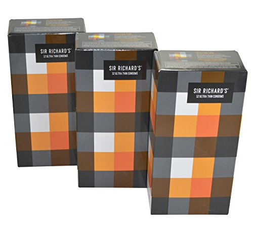 Compañía condón Ultra delgado 3 piezas de Sir Richard (36 condones)