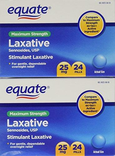 Igualar la fuerza máxima las píldoras laxantes, senósidos 25 mg, 48 pastillas