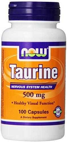AHORA alimentos taurina 500mg, 100 cápsulas