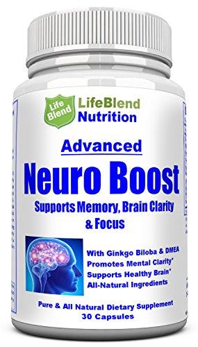 Advanced Brain Booster función de memoria, enfoque y claridad - rendimiento Mental Nootrópicos - formulado por el médico proporcionar la mezcla de DMAE, Ginkgo Biloba, Bacopa Monnier, hierba de San Juan y la L-glutamina