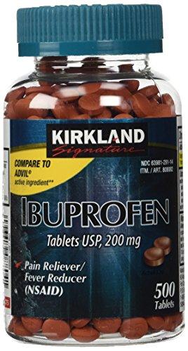 Kirkland Signature comprimidos de ibuprofeno USP, 200 comprimidos de 500 MG