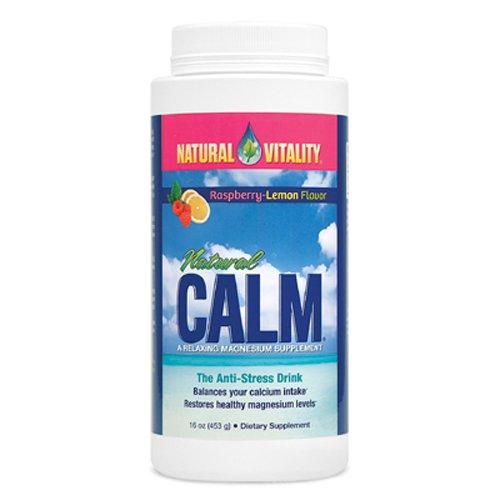 Bebida natural vitalidad, calma Natural, Anti-Stress, orgánica sabor frambuesa-limón, 16 onzas (453)