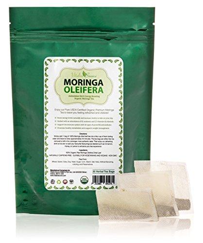 Orgánico Moringa té 30 All Natural 100% certificada puro cruda seca hoja - altamente nutritivo energizante y actualización - cafeína libre - amor o su devolución