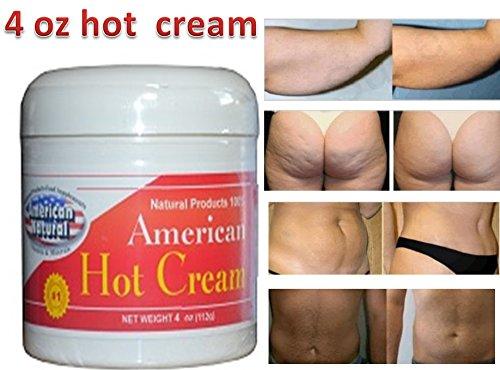 American Natural americano caliente crema 4 Oz excesivo cuerpo quemador de grasa reductor peso pérdida crema