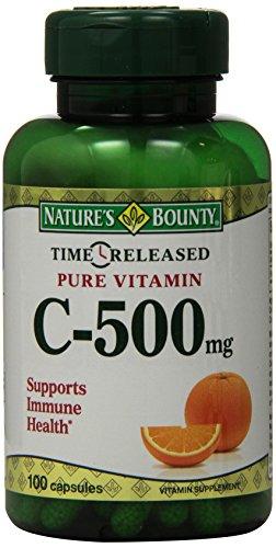 Bounty vitamina de la naturaleza C, 500mg, liberación de tiempo, 100 cápsulas
