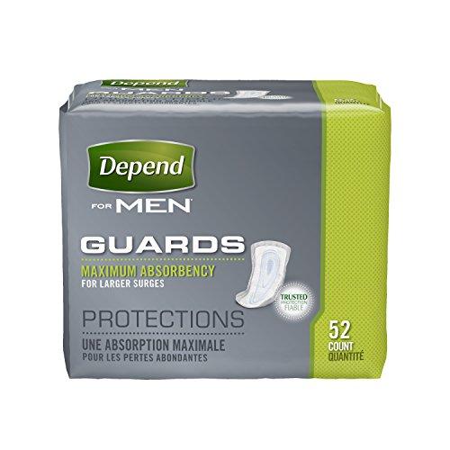 Dependen de protecciones de incontinencia absorbencia máxima para los hombres, cuenta 52
