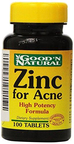 Zinc para el acné - 100 tabs,(Good'n Natural)