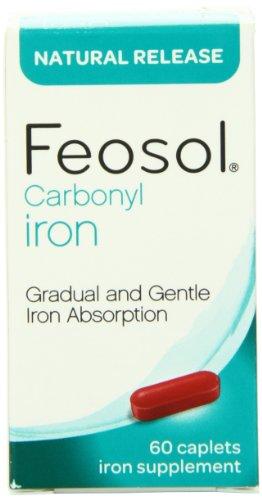 Liberación Natural Feosol, hierro, 45 mg, vitaminas, cuenta 60