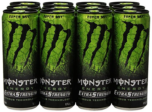 Monster bebida de la energía de fuerza Extra, Super seco, 12 onzas (Pack de 12)