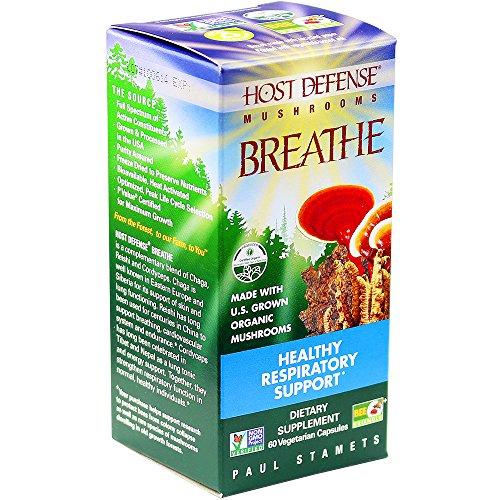 Host Defense® respirar cápsulas, apoyo respiratorio sano, cuenta 60