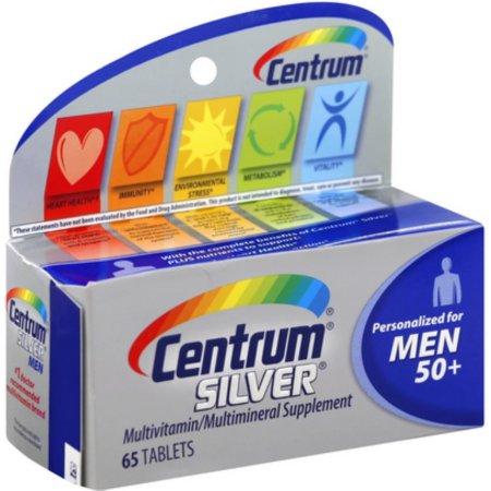 Centrum de plata de los hombres de 50 comprimidos multivitamínicos 65 ea (Pack de 2)