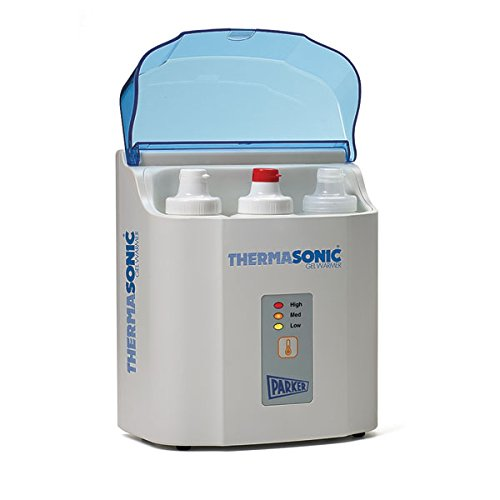 Laboratorios de Parker 82-03 Thermasonic ultrasonido Gel calentador, LED alto Med bajo Mostrar, 3-botella, 120V (cada uno)