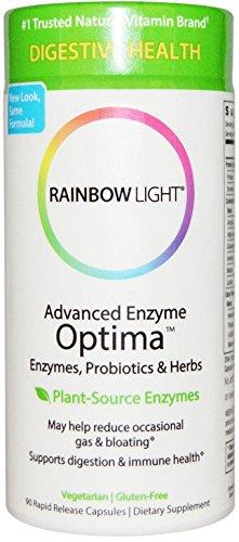 Luz de arco iris - avanzado enzima Optima con prebióticos y probióticos - 90 cápsulas vegetarianas