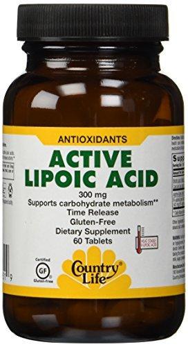 El ácido lipoico activa de la vida de país (sostener la liberación), 60 tableta