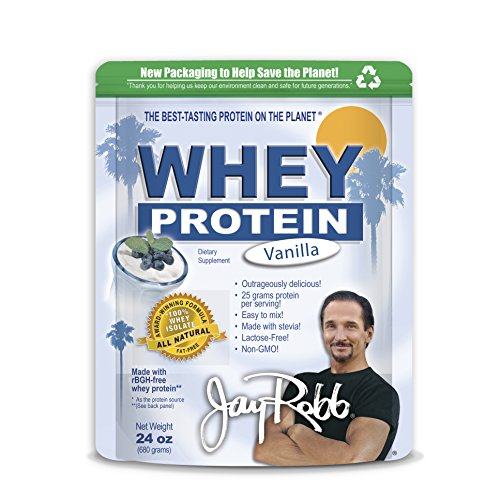 Jay Robb - suero aislado proteína de vainilla en polvo, escandalosamente deliciosa, 24 oz.