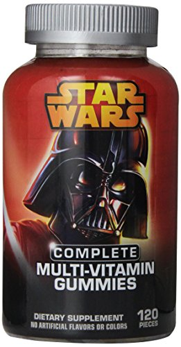 Villano de Star Wars completa multi-vitamina gomitas, cuenta 120