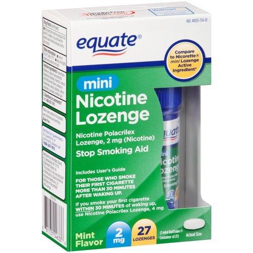 Equiparar la nicotina Mini pastilla 2mg ct 27 compara a Nicorette Mini pastilla
