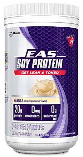 EAS proteína de soya en polvo, vainilla, 1,3 lb