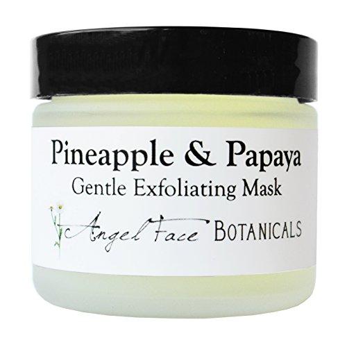 Piña y Papaya orgánica suave exfoliante enzimático Máscara Facial con manzanilla y consuelda para toda la piel mecanografía 2,3 oz