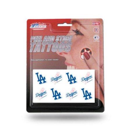Los Angeles Dodgers MLB Oficial de 1 pulgada x 1 pulgada 8 Piezas tatuaje temporal Fijado por Industrias Rico