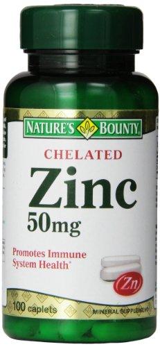Generosidad de la naturaleza quelado Zinc (gluconato de Zinc) 50mg, 100 cápsulas