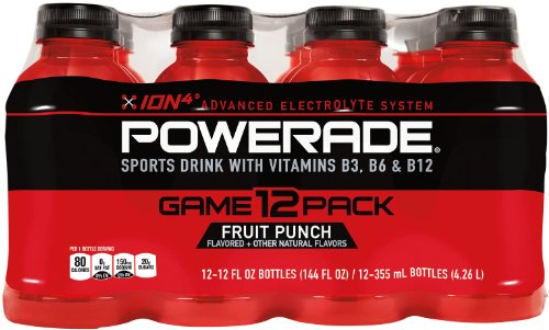 POWERADE Fruit Punch, ct 12, 12 FL OZ botella