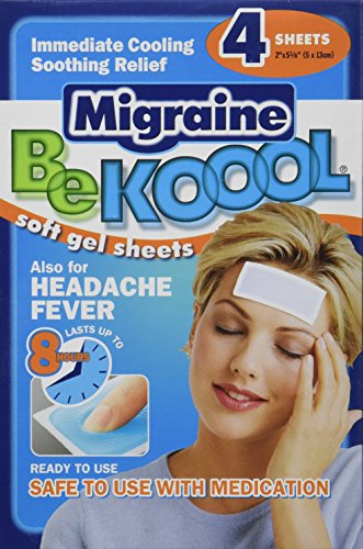 Ser hojas Koool Gel para migraña adultos, cuenta 4 (paquete de 3)