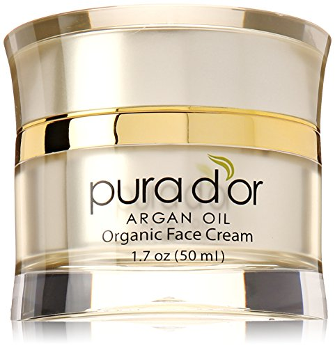 PURA d ' or Anti-Aging Premium orgánica aceite de argán día y noche la crema de cara, 1,7 onzas