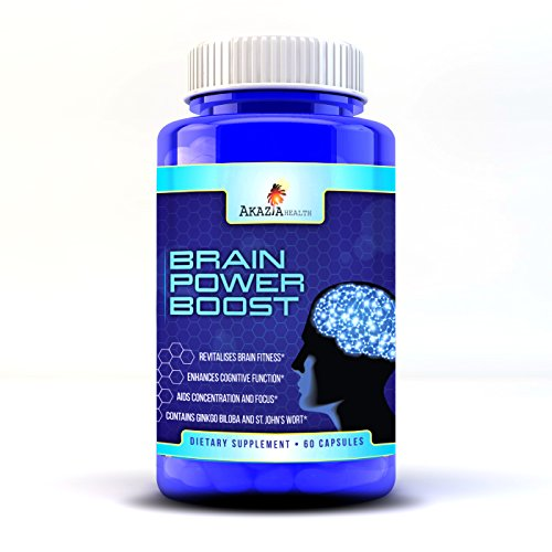 Poder del cerebro impulsar toda mente Natural mejora suplemento notable hierba de San Juan y Ginkgo Biloba complejo apoya la función cognitiva y mejora la salud del cerebro